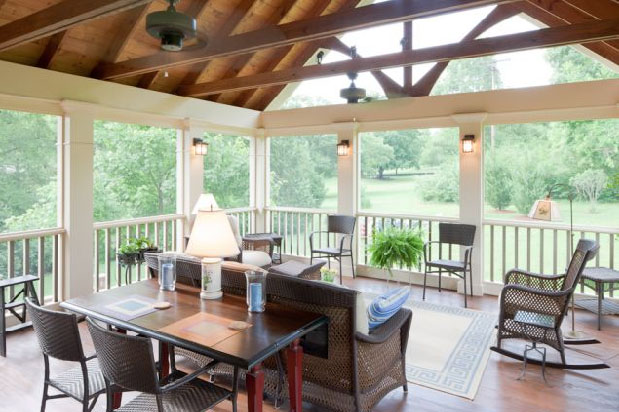 Interior Screened Porch : Screened porches bring the outdoors indoors idesignarch