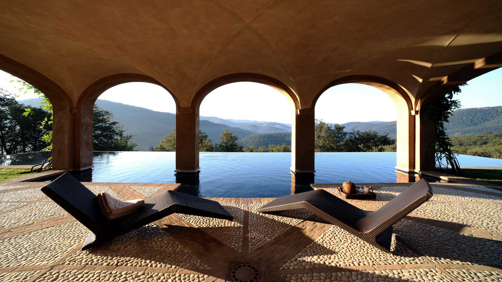 Luxury estate of Castello di Reschio in Umbria