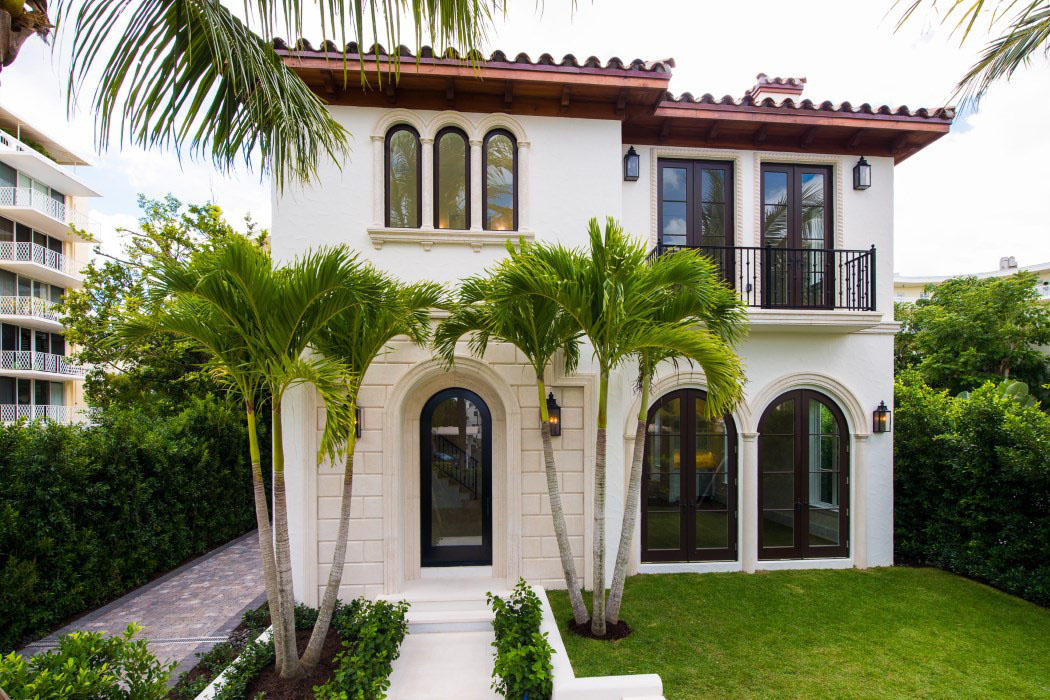 New mediterranean style home in palm beach idesignarch Spanish style modular homes