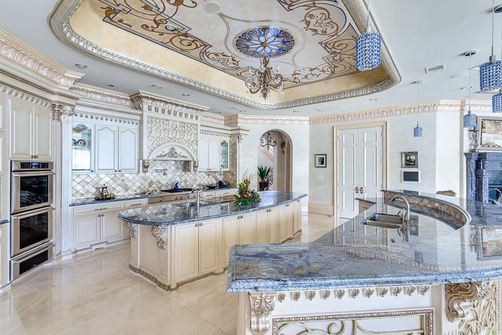 Opulent Kitchen with Marble Countertops