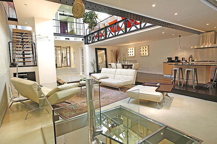 luxury designer loft apartment in paris