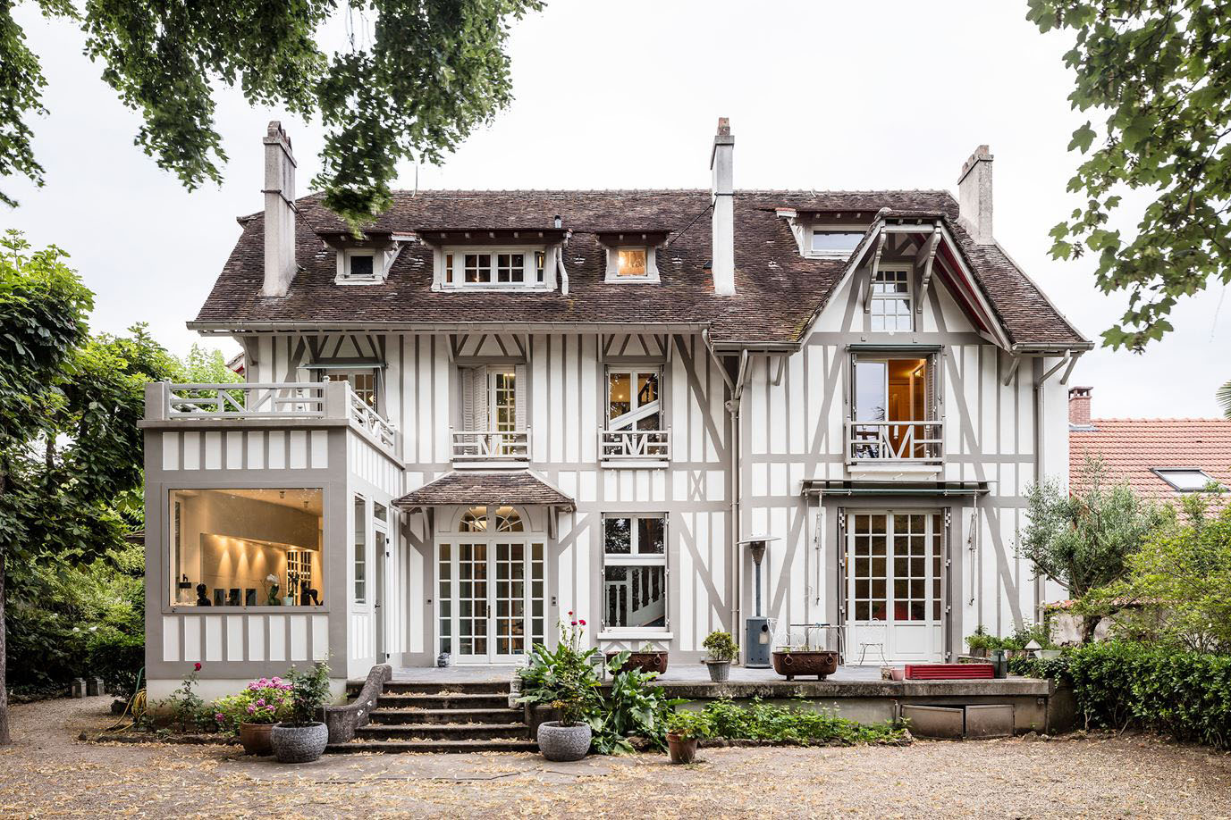 Contemporary Renovation of a 19th Century French Half-Timbered ...