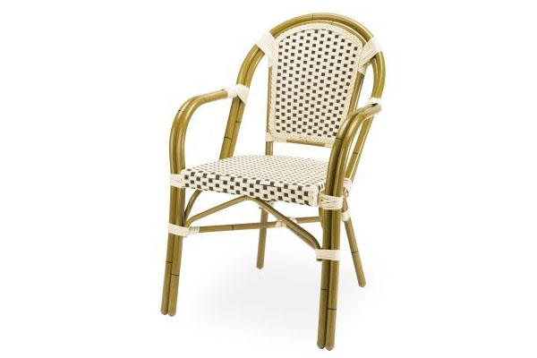 Paris Cafe Wicker Arm Chair