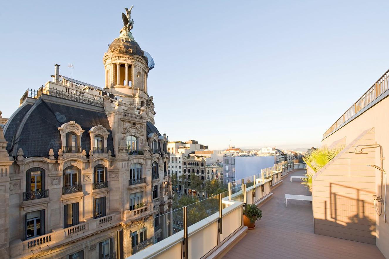 Modern Penthouse Apartment Terrace Barcelona Spain