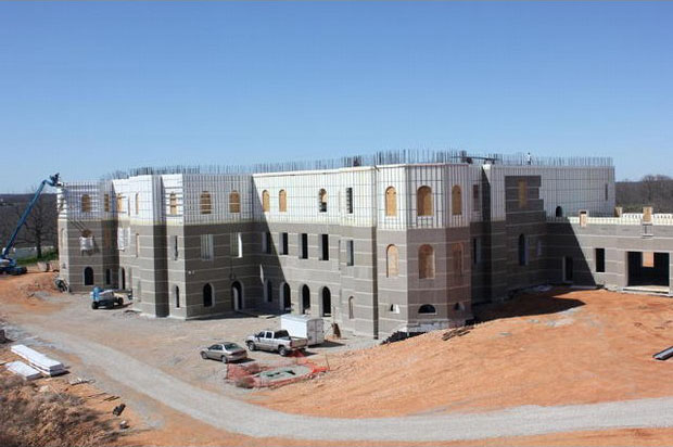 Mystery mansion under construction in the ozarks for Pensmore mansion