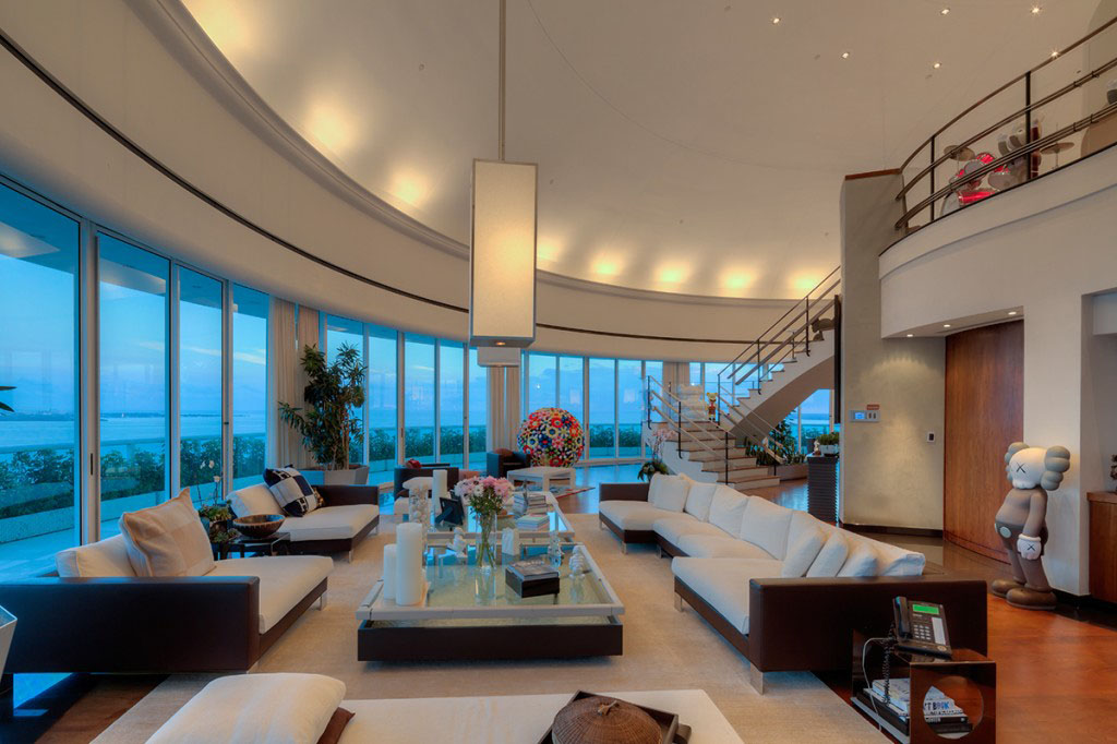 Inside Pharrell Williams Stunning Miami Waterfront Penthouse on San Francisco Penthouse