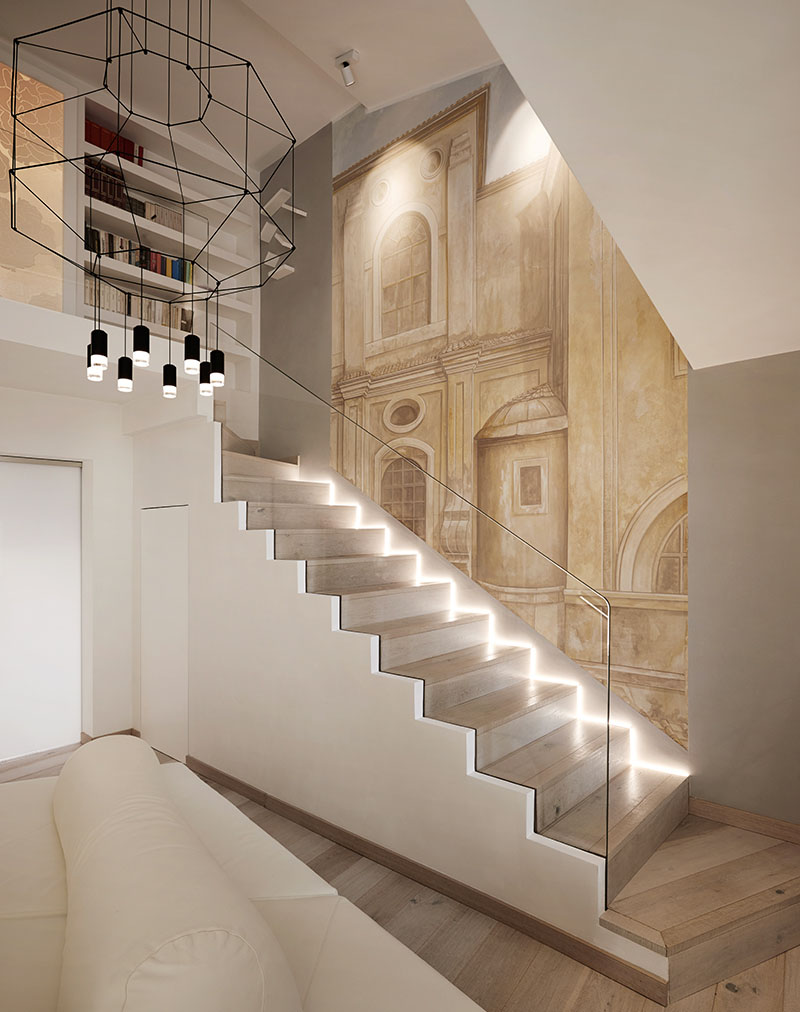 artistically renovated modern penthouse apartment in rome