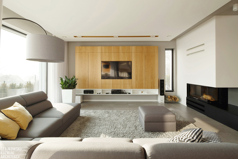 Modern home interior colors - Poland Modern Home Interior Black White Light Wood Color Scheme_9