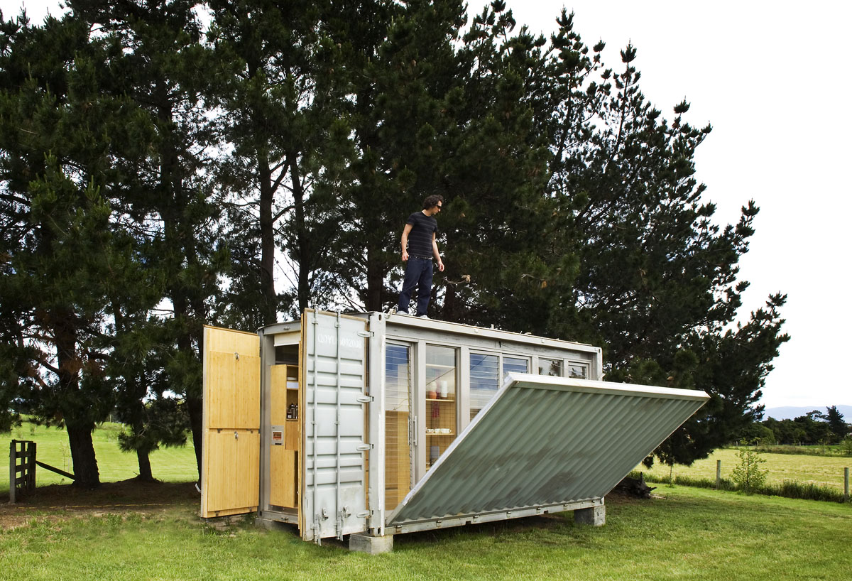 Modular Portable Homes port-a-bach shipping container home | idesignarch | interior