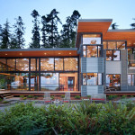 Secluded Wooded Modern Home In Port Ludlow With Expansive Water Views
