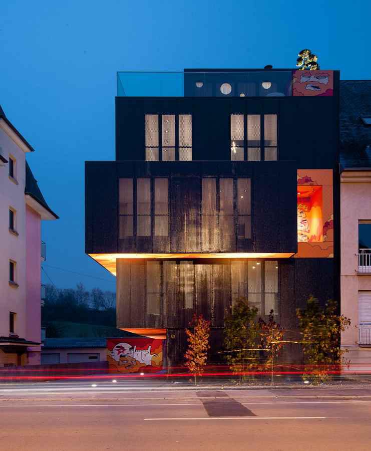 Post Graffiti Luxembourg Apartment Building Idesignarch