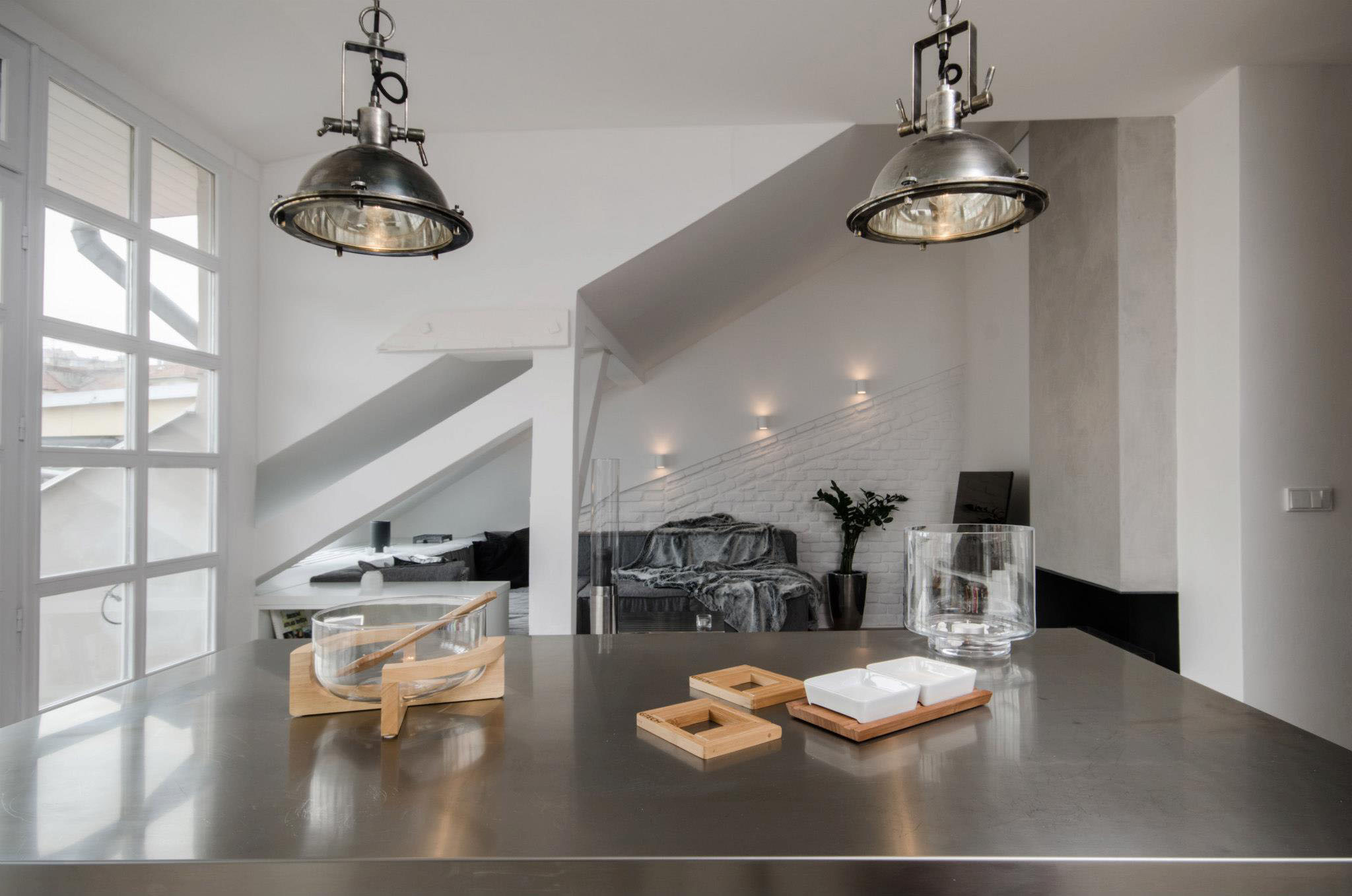 Modern Attic Loft With Grey Palette In Prague