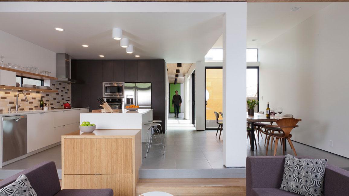 Eichler inspired affordable prefab home idesignarch for Prefab interior arches