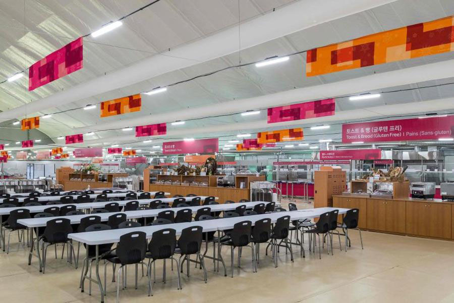 PyeongChang 2018 Olympic Village Cafeteria Dining Hall