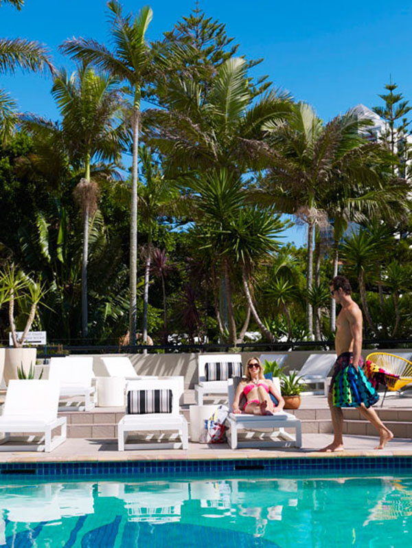 QT Gold Coast Hotel. Poolside Chairs. Stingray Lounge