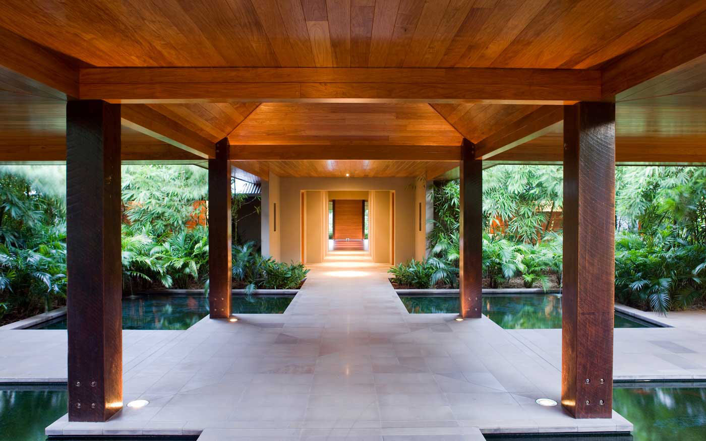 the openness of the interiors was designed to take full advantage of ...
