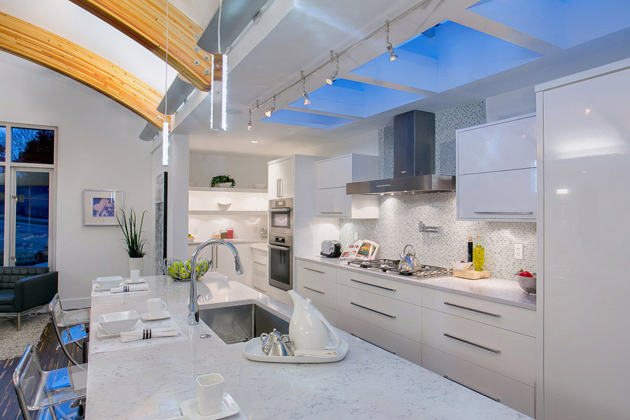 Unique Contemporary Modern White Kitchen