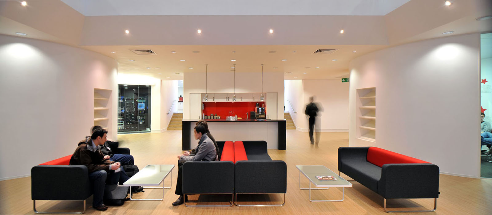 Inspiring british office interior design at rackspace for Interior design of office