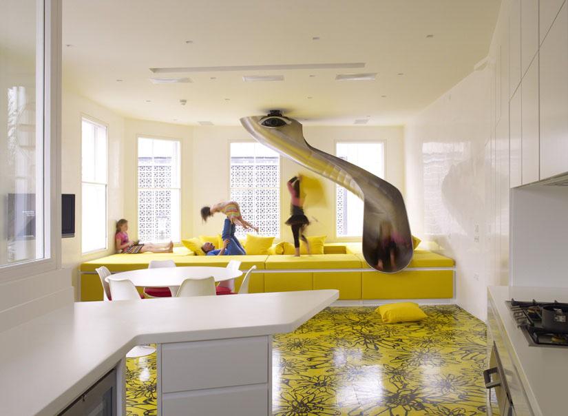 Rainbow House: A Playground For Children In Modern Home. Interior Designer  ...
