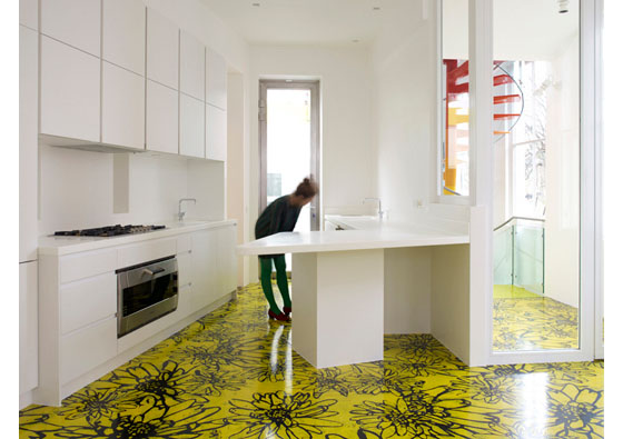 Rainbow house a playground for children in modern home for Funky house london