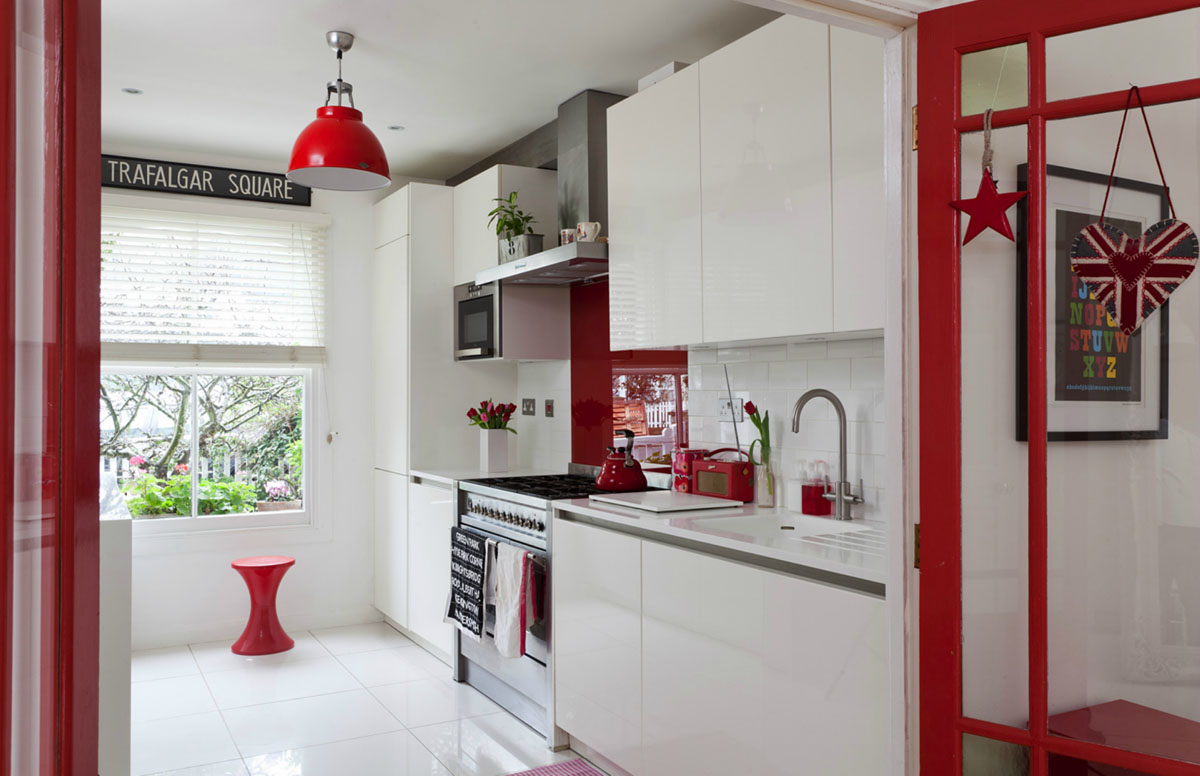 Red White Kitchen House In Ravenscourt With Red And White Theme Idesignarch