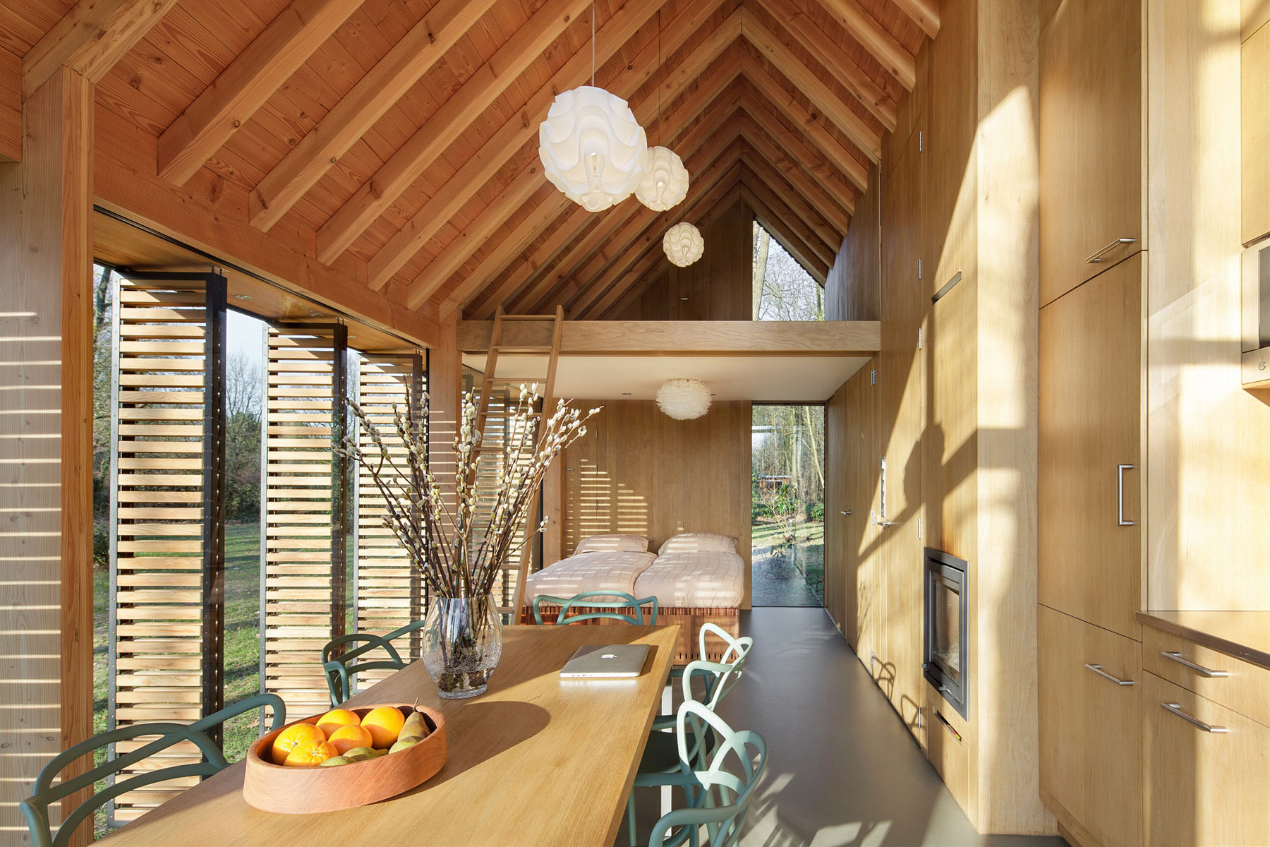 Interior of Tiny Wood Country House