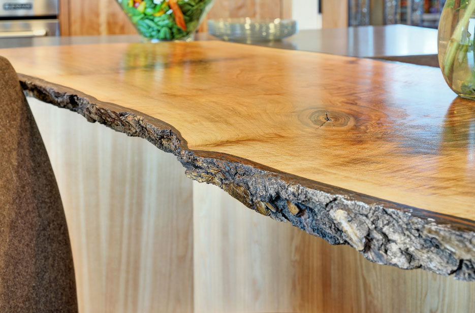 Bark Wood Edge Countertop