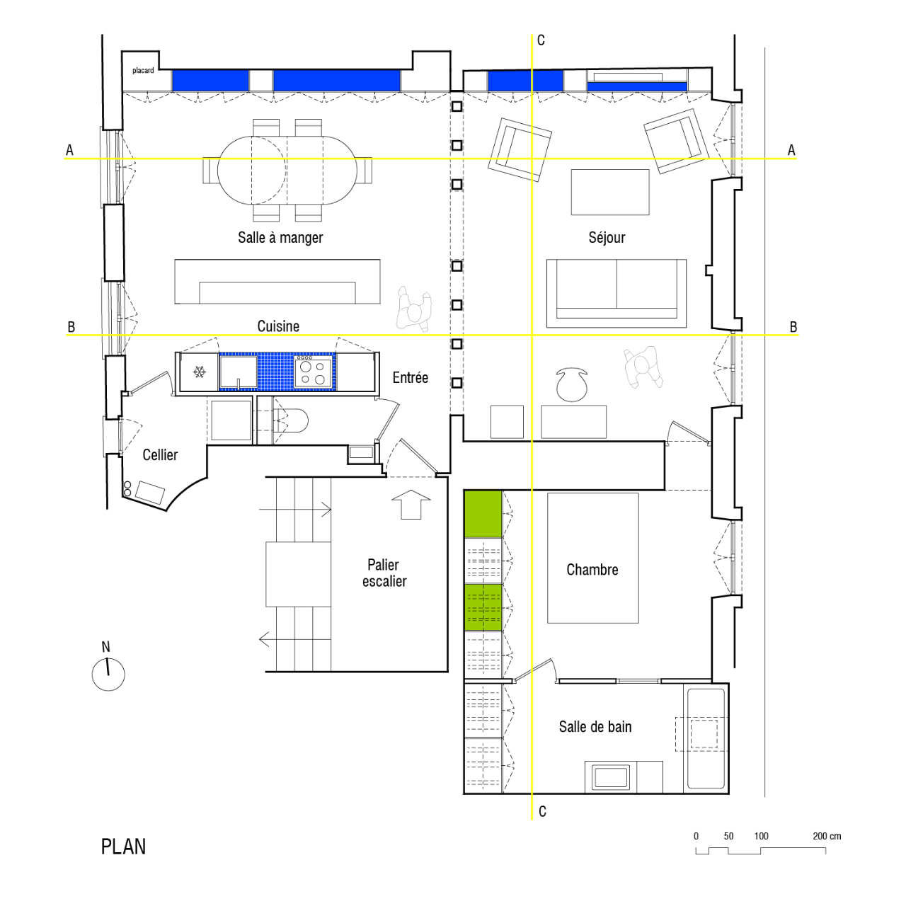 Beautiful Paris Apartment Floor Plan Photo