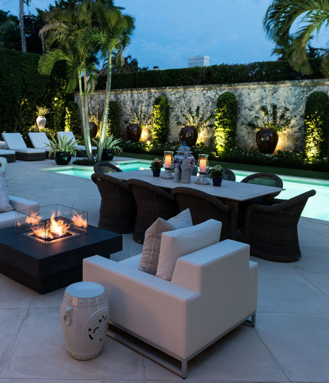 Elegant Outdoor Patio Florida Villa Living