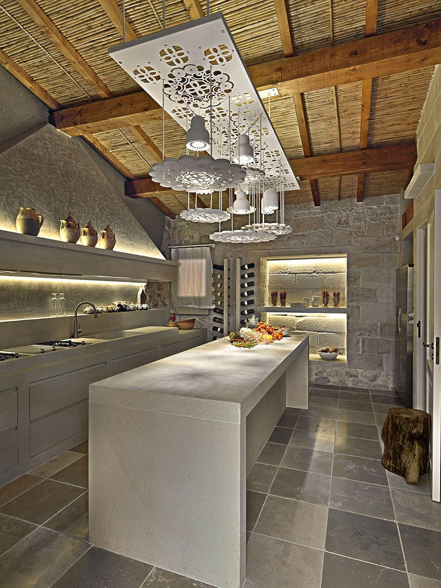 Contemporary Stone Kitchen