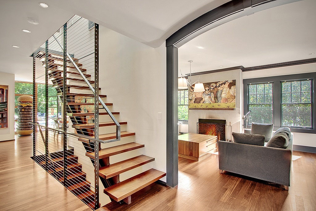 Modern remodelled home in seattle with whimsical artwork for Simple house design inside