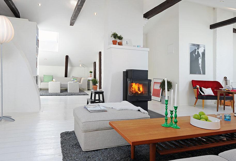 Renovated attic duplex apartment design idesignarch for Duplex apartment design