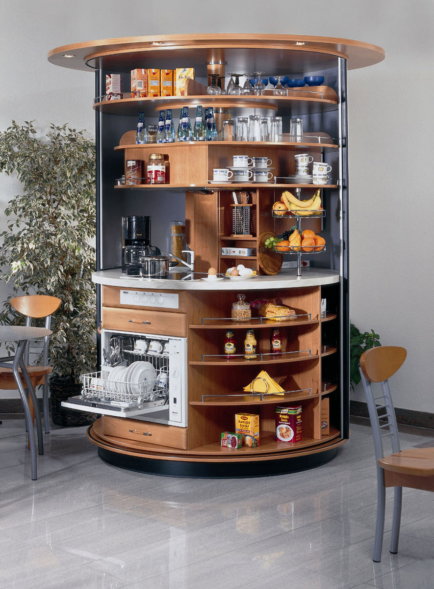 revolving circle compact kitchen