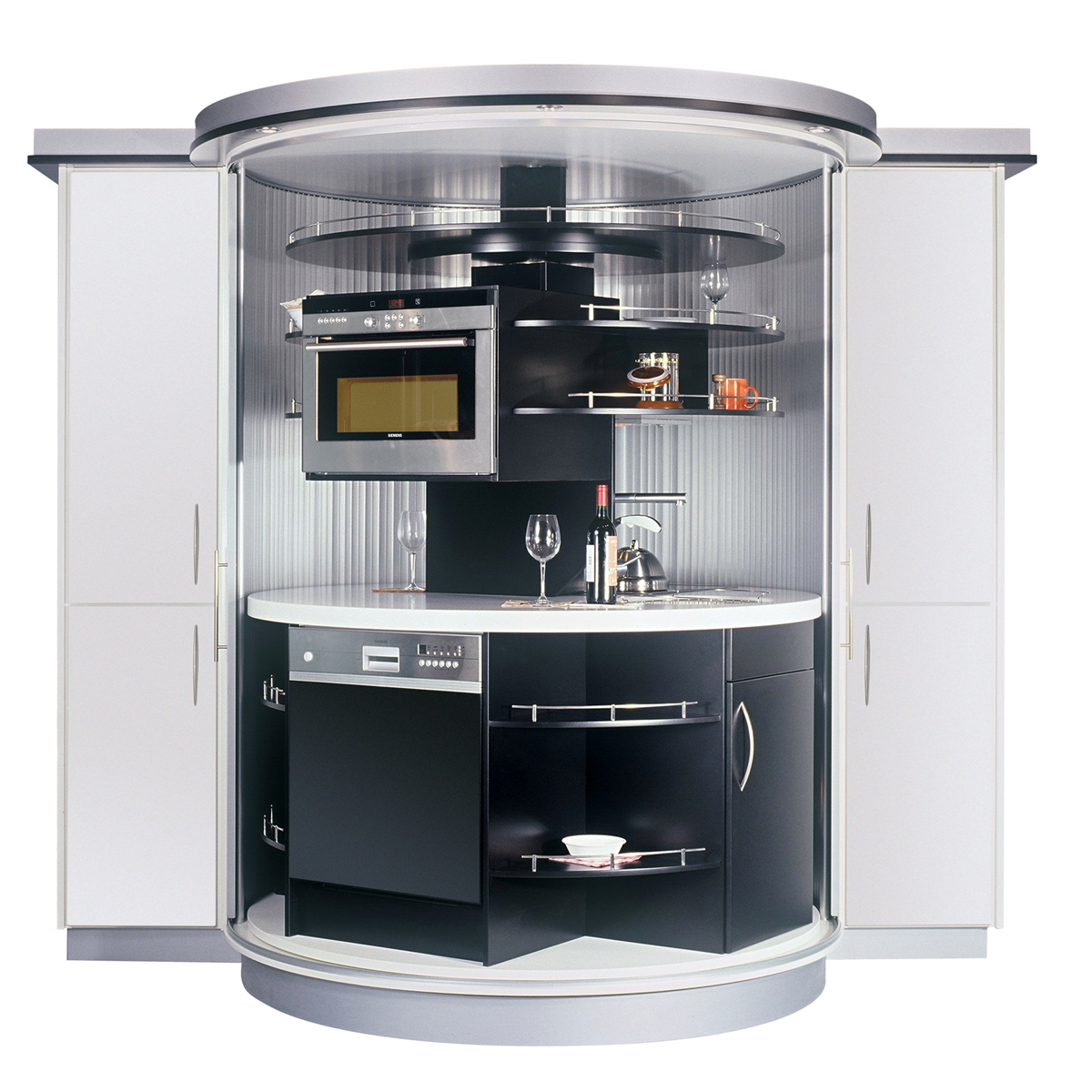 Compact Kitchens All In One: Revolving Circle Compact Kitchen
