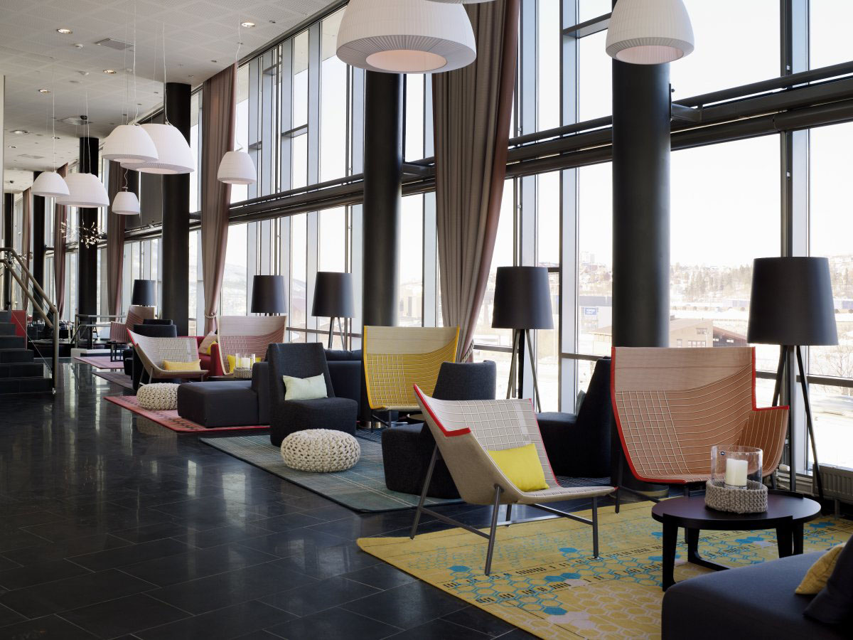 Rica hotel narvik a stylish modern business hotel for Stylish lounge furniture