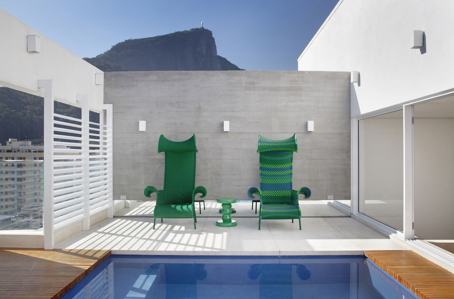 Green Outdoor Deck Chairs