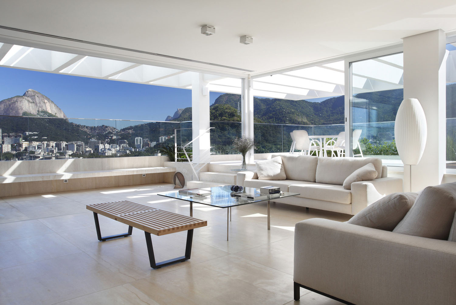 Penthouse Living Room With Open Terrace