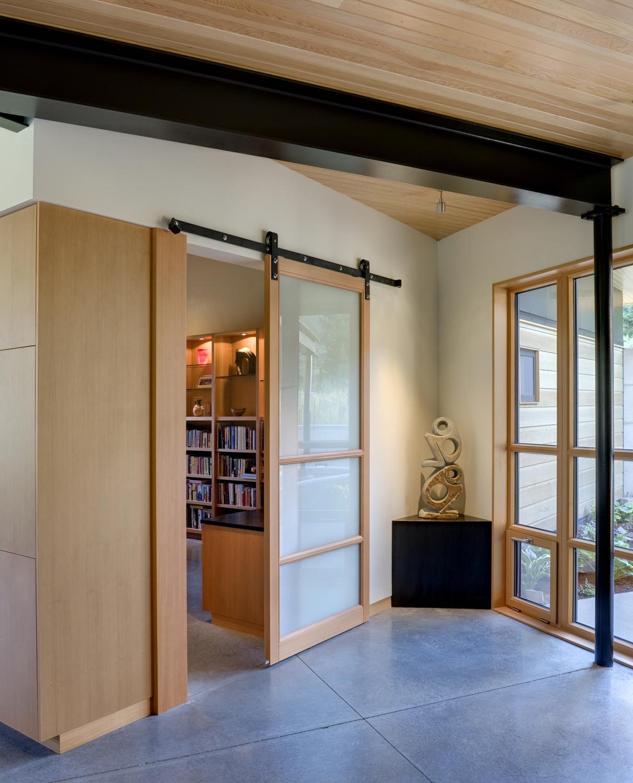 Wooden Barn Door Style Sliding Door