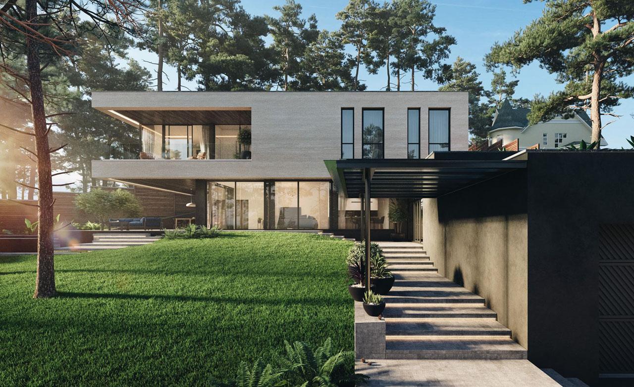 Riverside Modern House Design Kiev Ukraine 3