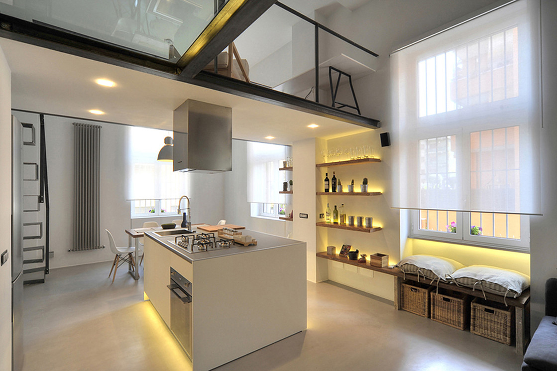 Chic Modern Loft Kitchen