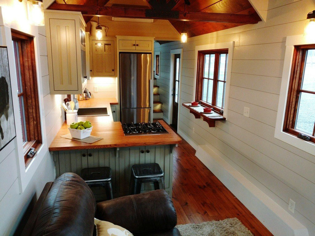 Nicest Kitchens Rustic Farmhouse Style Luxury Large Tiny House On Wheels 5