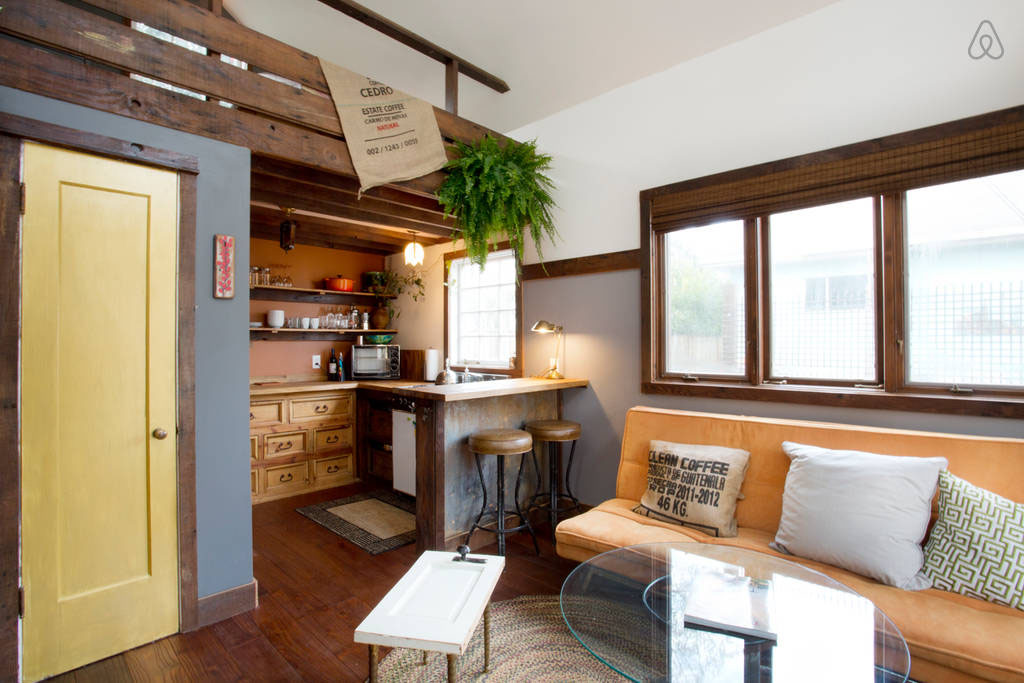 Spacious Tiny House Living Area