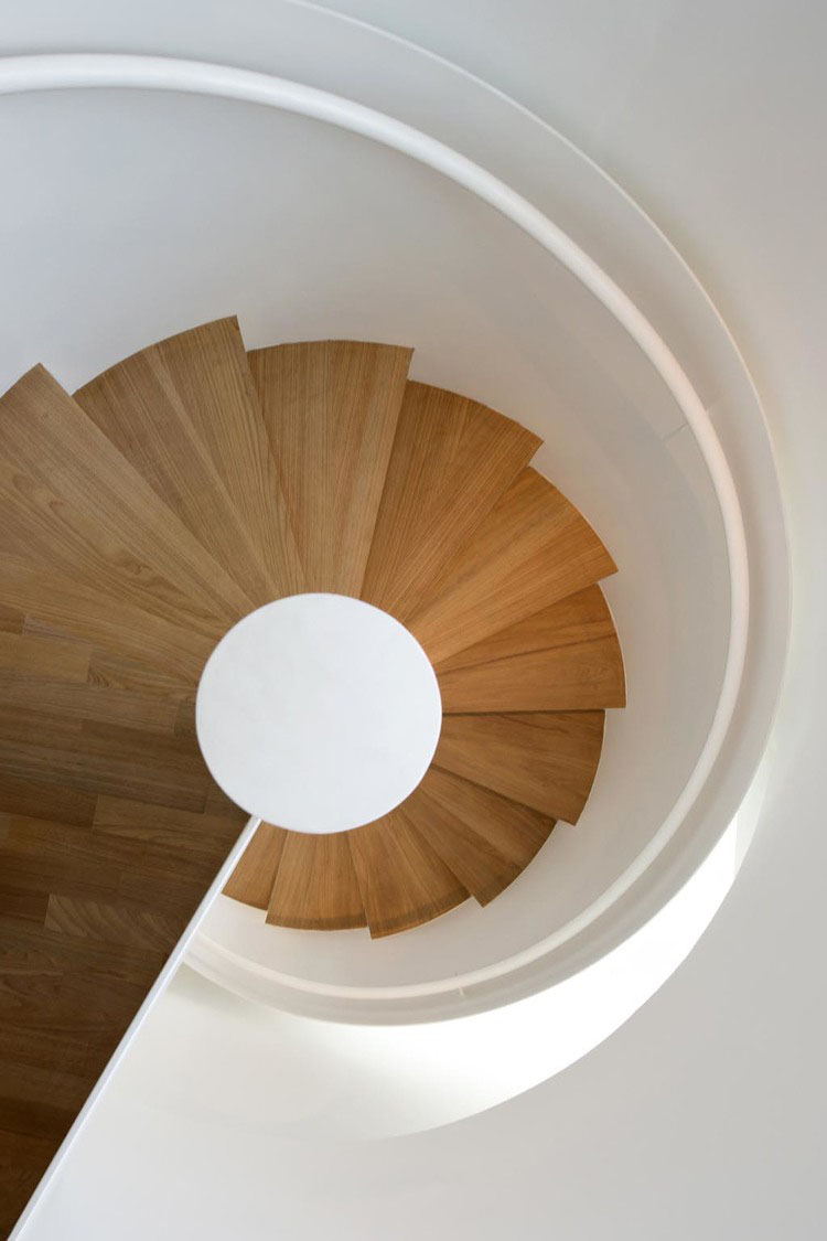 Minimalist Spiral Staircase