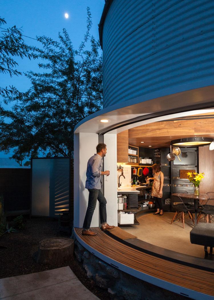 Small Space House Design: Grain Silo Converted Into A Cozy 340 Square Foot Small