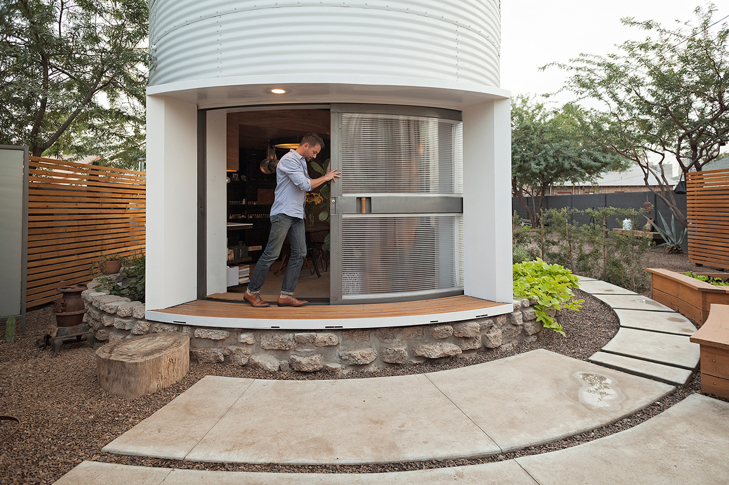Design Silo House grain silo converted into a cozy 340 square foot small house tiny sleeping loft