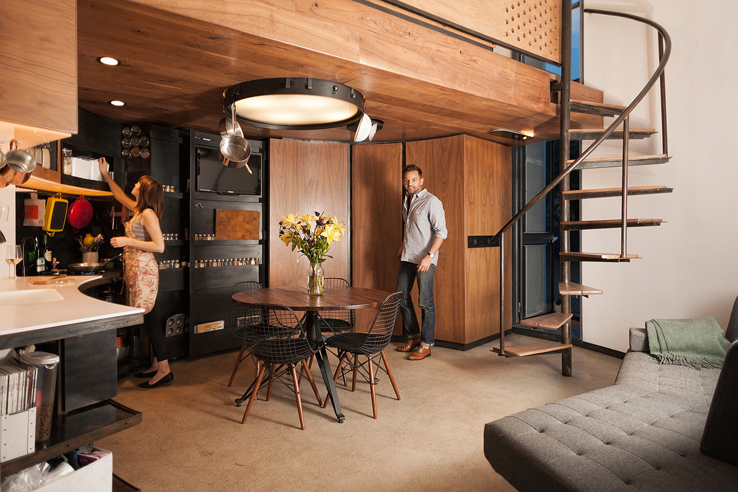 Grain Silo Converted Into A Cozy 340 Square Foot Small ...