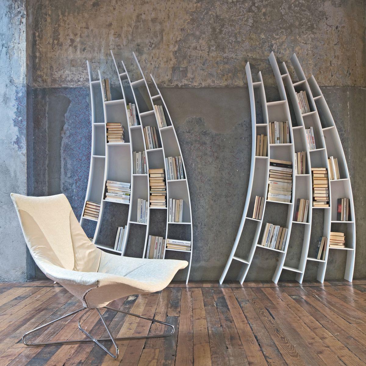 Expressive Bookshelves Surreal By Saba Italia