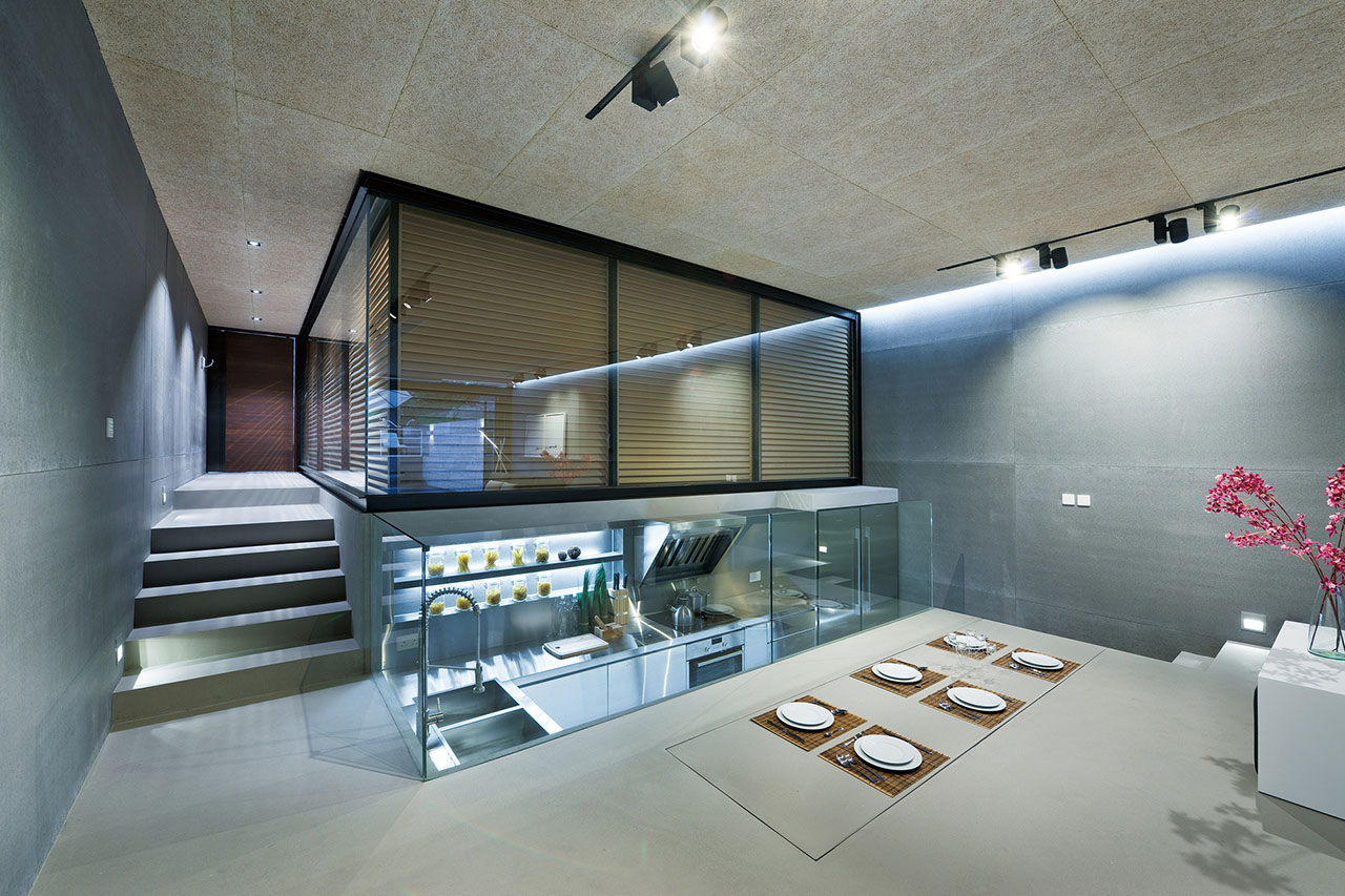 Modern Home with Sunken Kitchen