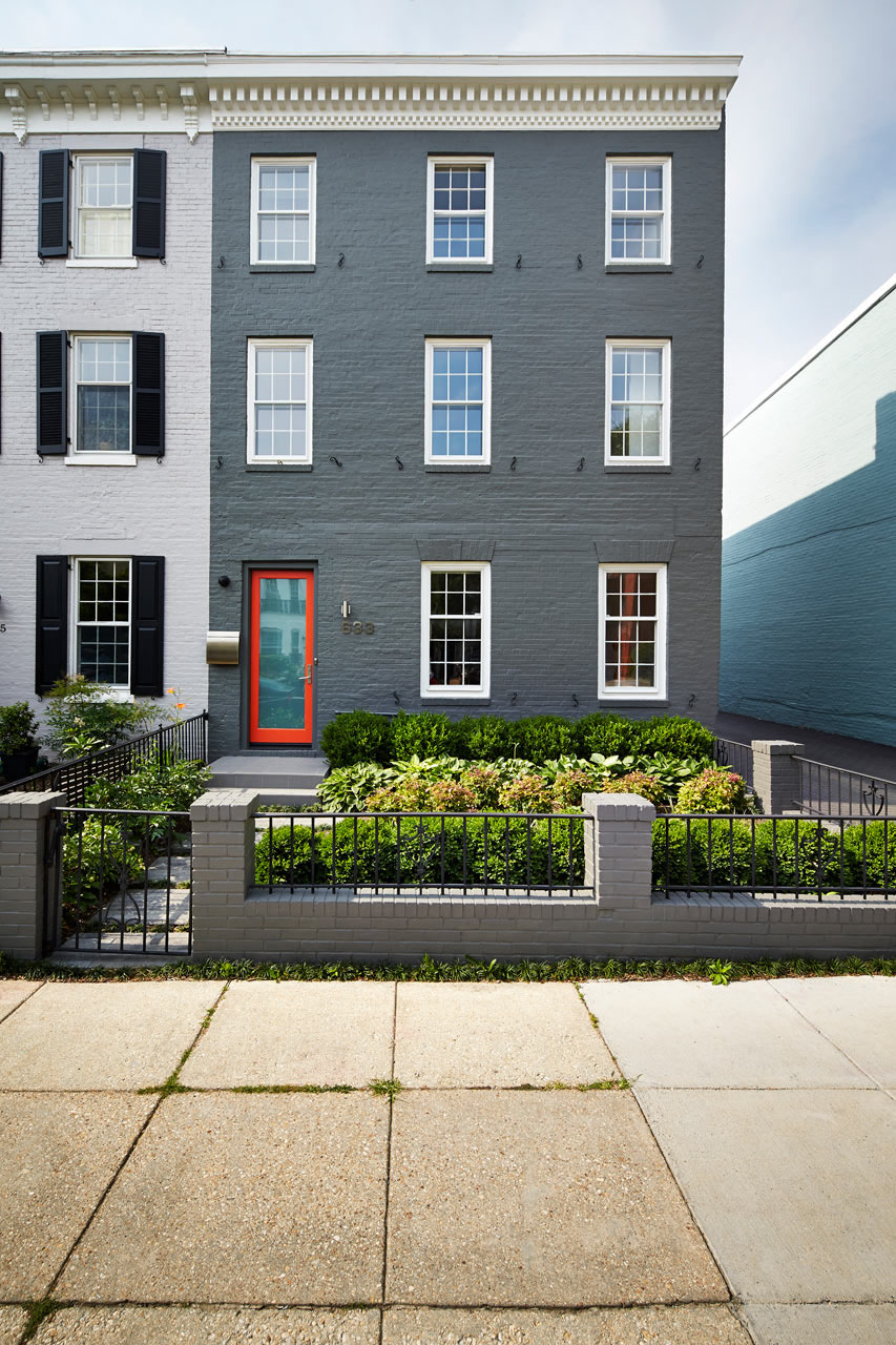 Washington D.C. Row House Renovated Modern Exterior