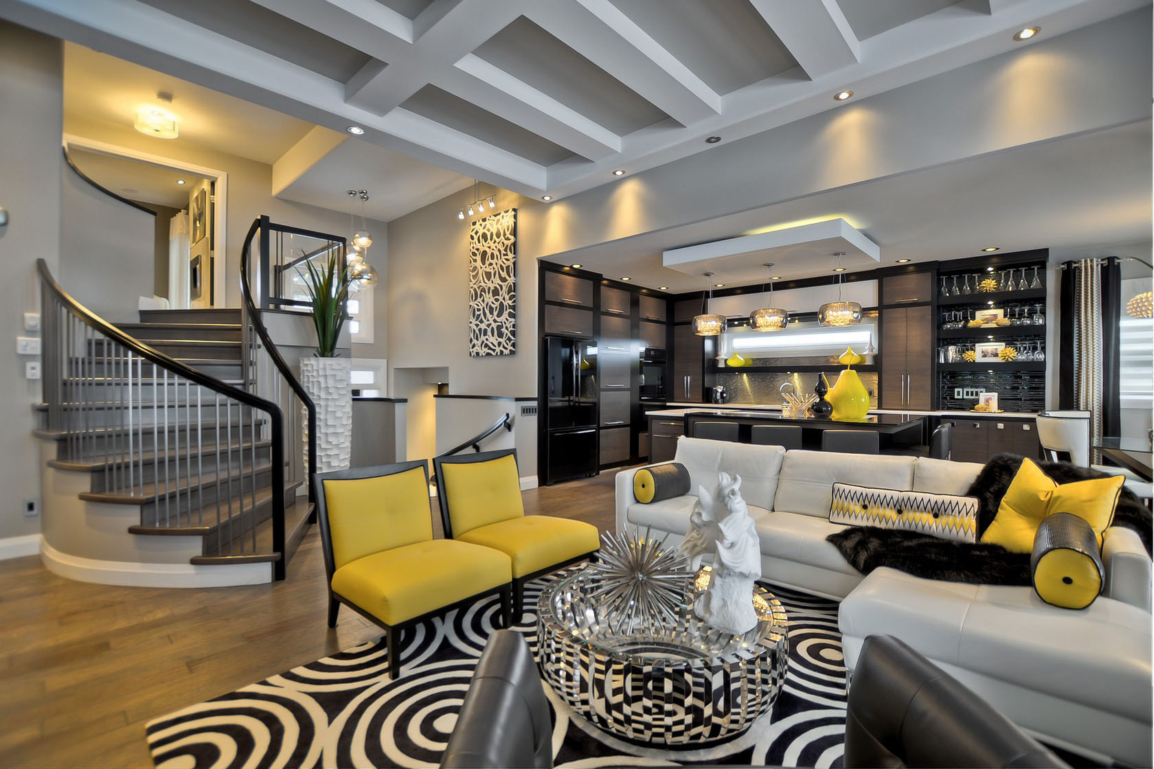 Contemporary custom dream home in saskatoon with inspiring for Modern home accents accessories